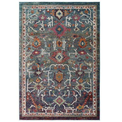 Tribute Every Distressed Vintage Floral  Area Rug