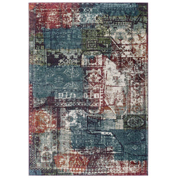 Tribute Elowen Contemporary Modern Vintage Mosaic Area Rug