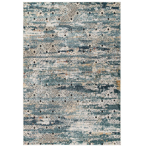Tribute Eisley Rustic Distressed Transitional Diamond Lattice Area Rug