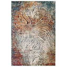 Tribute Ember Contemporary Modern Vintage Mosaic Area Rug