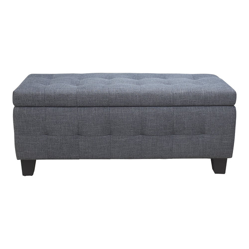 Transitional Gretchen Storage Bench With Cushioned Seat - Home Garden Bench