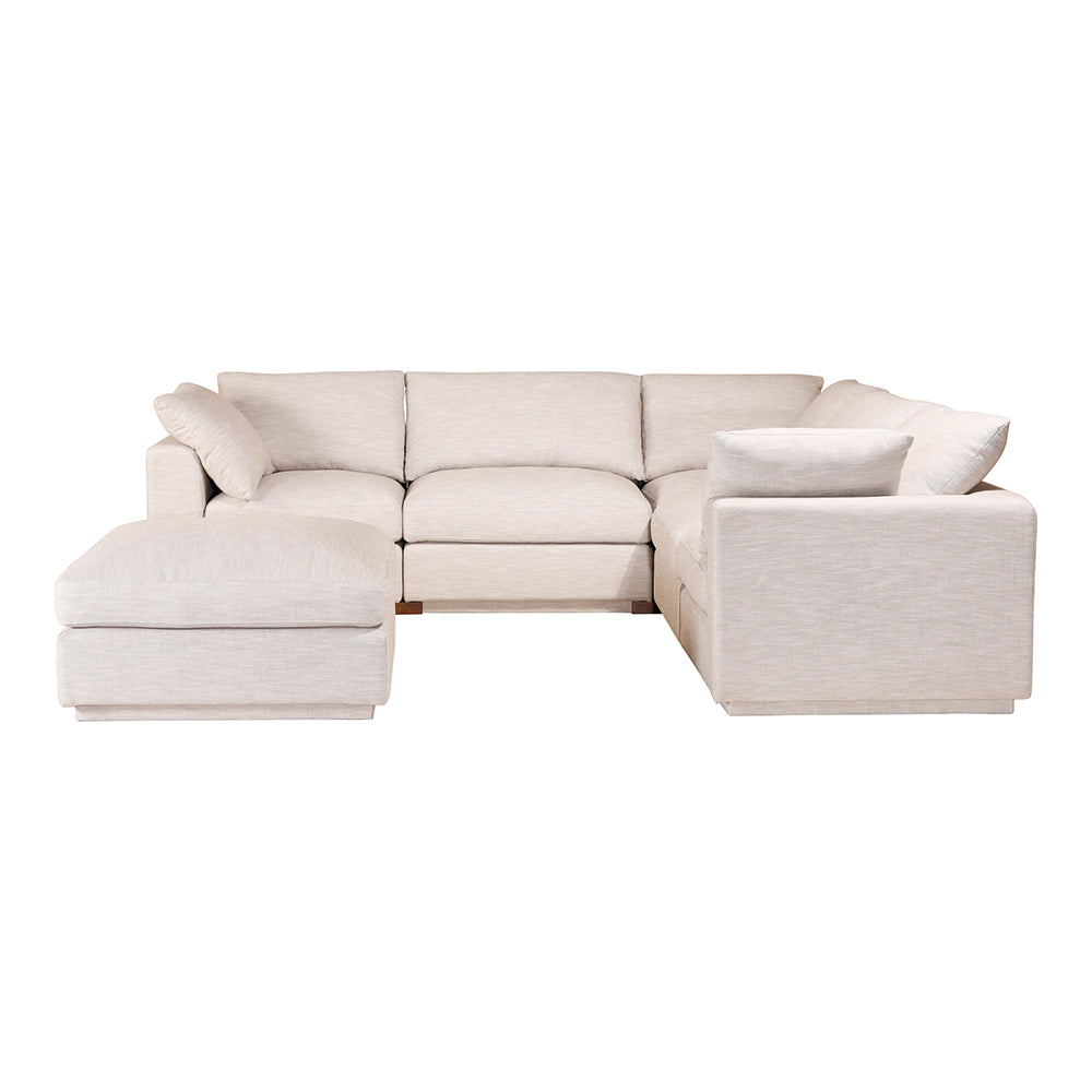 Transitional Justin Modular  Sectional Sofa Chair - Futon Foam Padded Sofa Couch