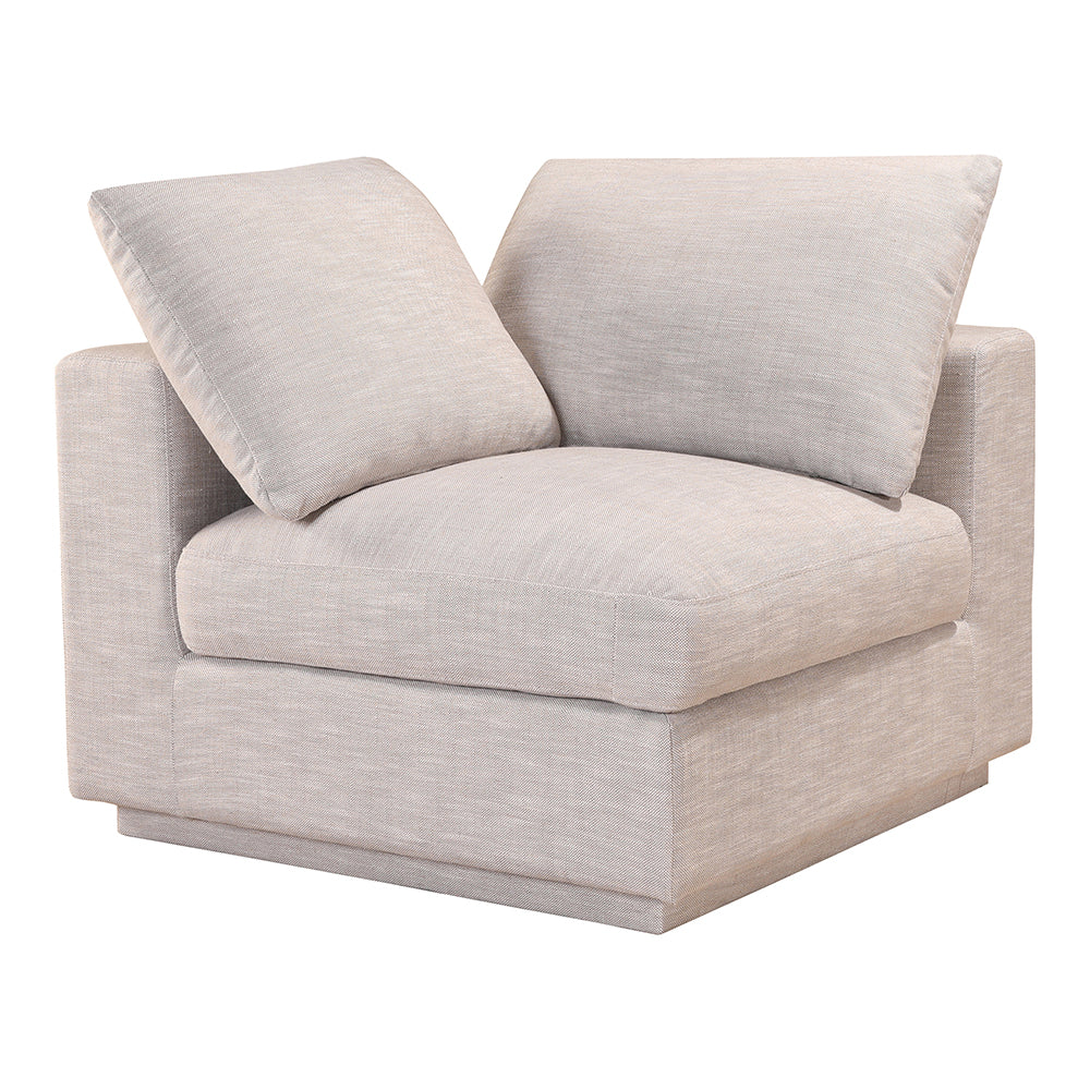 Transitional Justin Corner Sectional Sofa Chair - Futon Foam Padded Sofa Couch