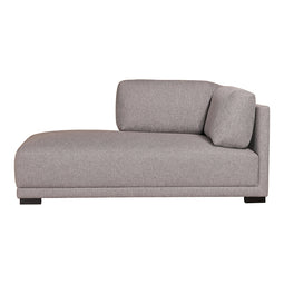 Romeo Chaise Left Grey, Light Grey, Contemporary Modern