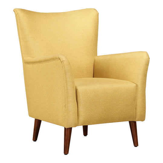 Contemporary Modern Upholstered Velvet Arden Armchair Chartreuse - Club Chair