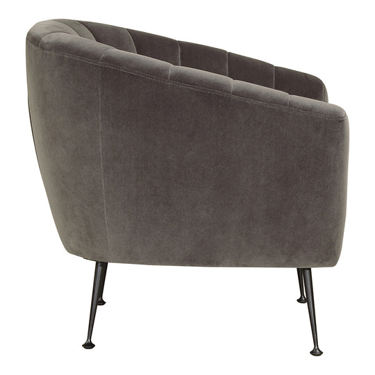 Contemporary Modern Marshall Lounge Chair - Tufted Velvet Pool Side Chair
