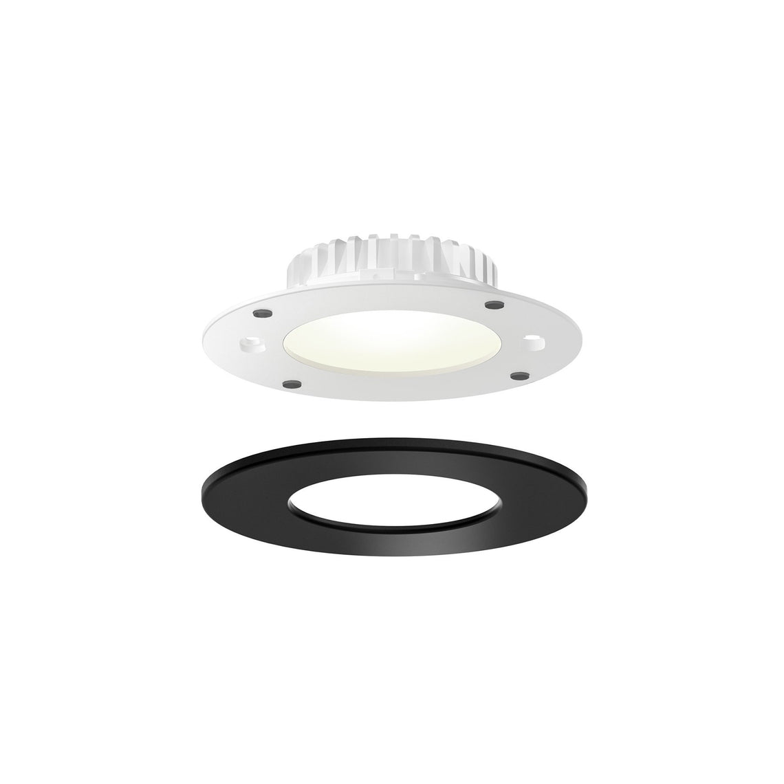 4 Inch Retrofit Panel Light for Octagonal Junction Box and 4 inch Can, 9W, 3000K, Wet Location