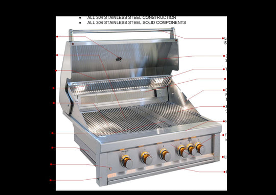 "Ruby 4 Burner Pro-Sear 42"" W/ IR Natural Gas 