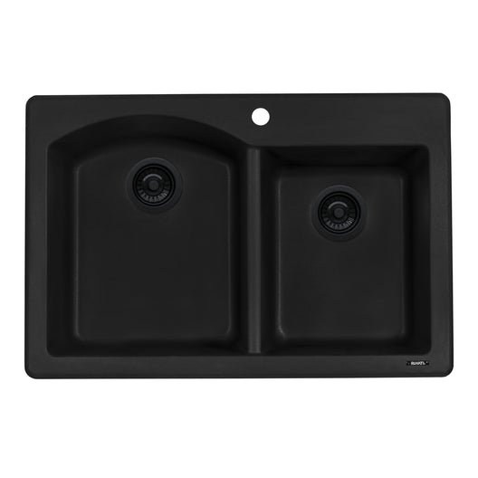 33 x 22 inch Dual-Mount Granite Composite Double Bowl Kitchen Sink
