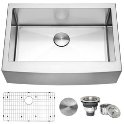 Farmhouse Apron-Front Kitchen Sink Stainless Steel Single Bowl