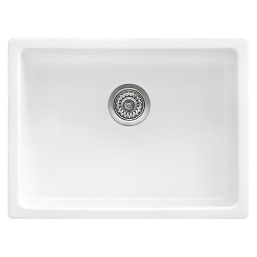 Fireclay Undermount / Drop-in Topmount Kitchen Sink Single Bowl - White
