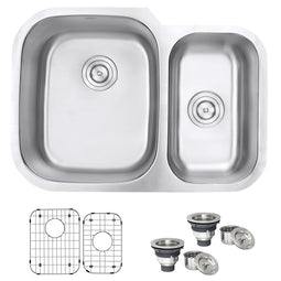 Undermount 29-inch  Double Bowl 16 Gauge Stainless Steel Kitchen Sink