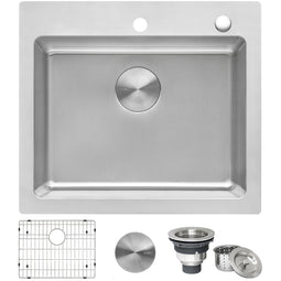 23 x 20 inch Drop-in Topmount Kitchen Sink 16 Gauge Stainless Steel Single Bowl