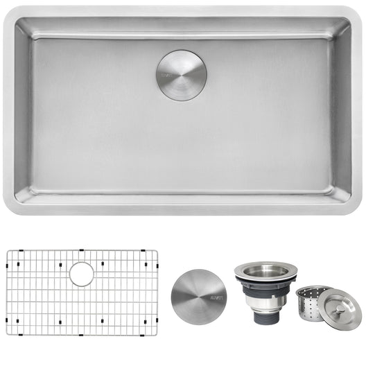 31-inch Undermount Kitchen Sink 16 Gauge Stainless Steel Single Bowl