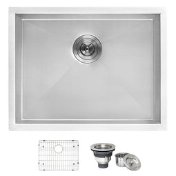 Deep Laundry Utility Sink Undermount 16 Gauge Stainless Steel