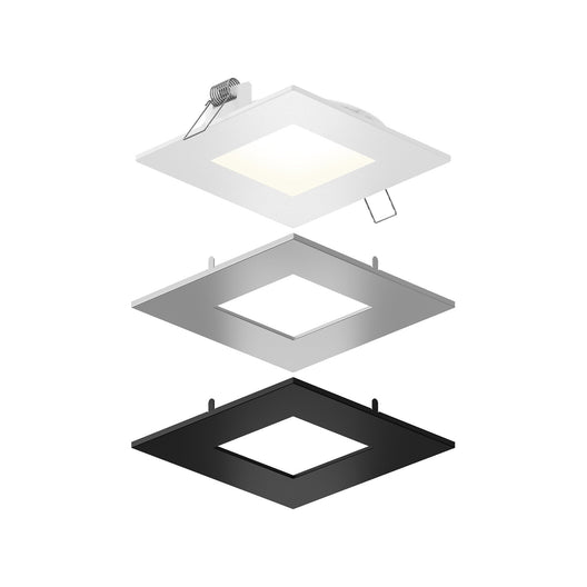 4 Inch LED Square Panel Downlight, 11W, Wet Location, CCT Changeable