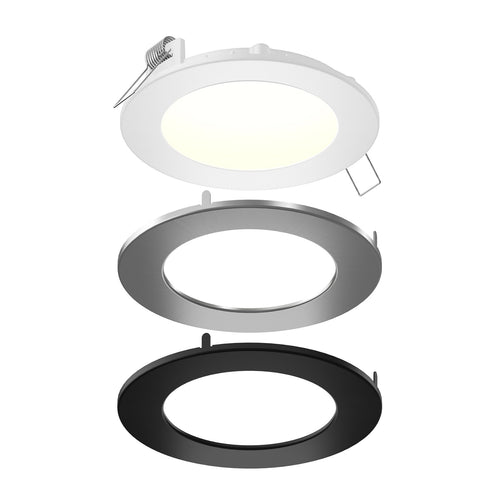 6 Inch LED Round Panel Downlight, 14W, Wet Location, CCT Changeable