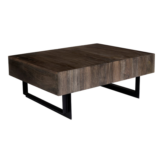 Tiburon Storage Coffee Table, Natural, Industrial | Moe's Home