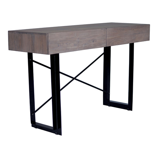 Industrial  2 Drawer Entryway Console Table - Multipurpose Rectangular Modern Tiburn Console Table