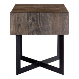 Tiburon Side Table, Natural, Industrial