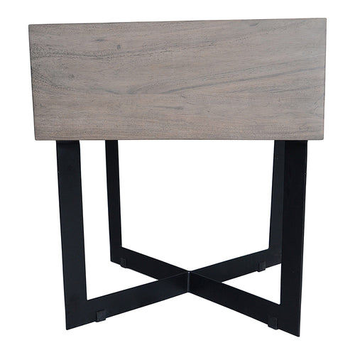 Tiburon Side Table Pale Grey, Light Grey, Industrial