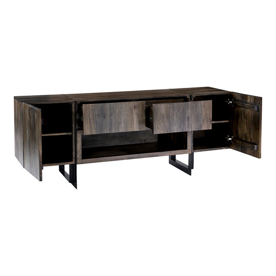 Industrial Tiburon Tv Entertainment Center - Buffet Kitchen Helper Table