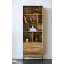 Load image into Gallery viewer, Transitional Colvin Storage Cabinet - 3 Drawers And Iron Base - Natural
