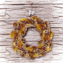 "Load image into Gallery viewer, 20"" Natural and Yellow Pine Cone and Wheat Artificial Christmas Wreath - Unlit,"