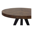 Load image into Gallery viewer, Rustic Parq Round Dining Kitchen Table - Space Saving Circular Dining Table