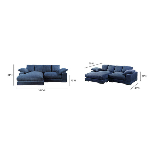 Plunge Sectional Navy Light Blue Transitional Sofa | Moe's Furniture