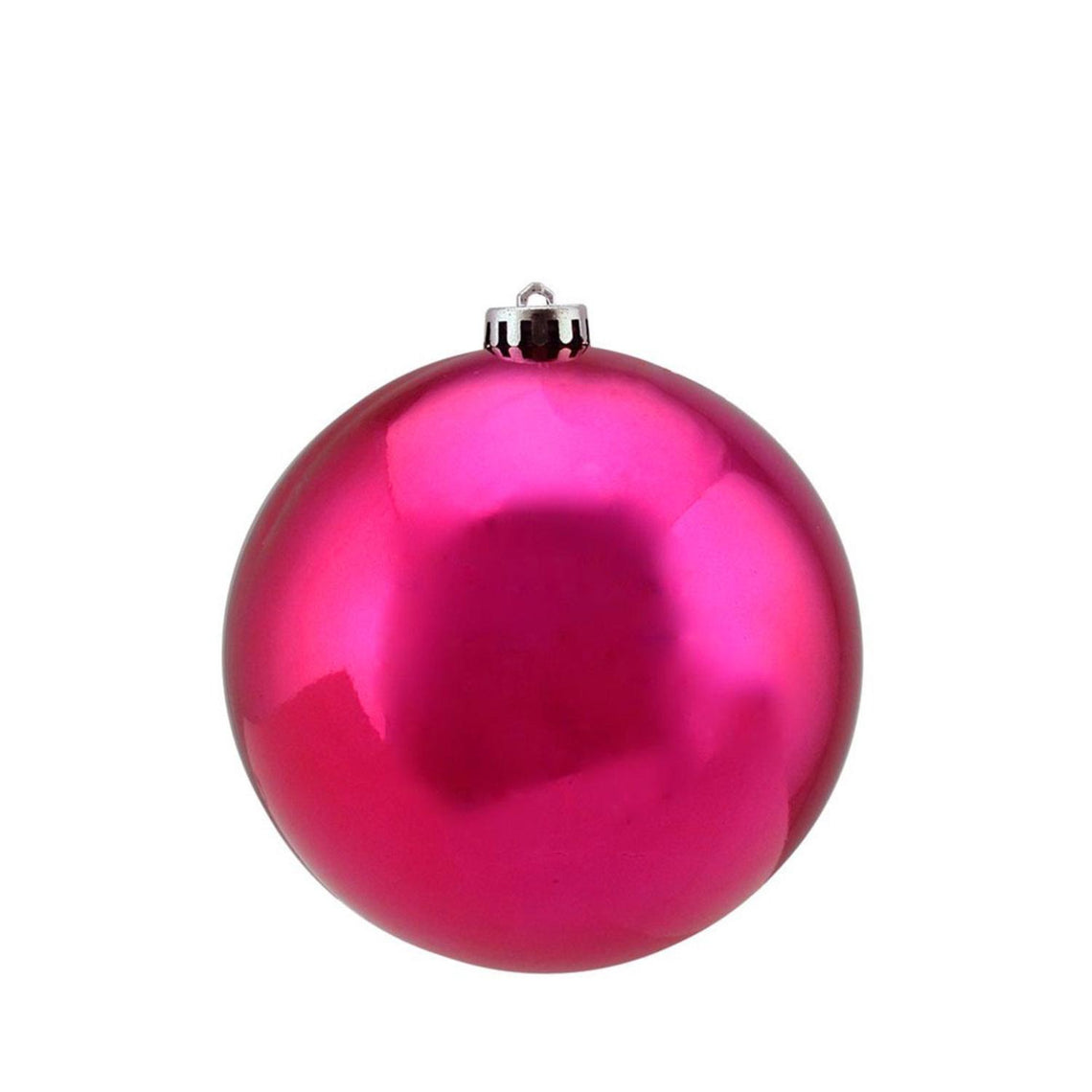 Shiny Pink Magenta Uv Resistant Commercial Shatterproof Christmas Ball Ornament 6