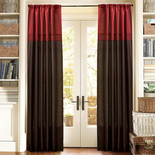 Geometrica Red Window Curtain Set