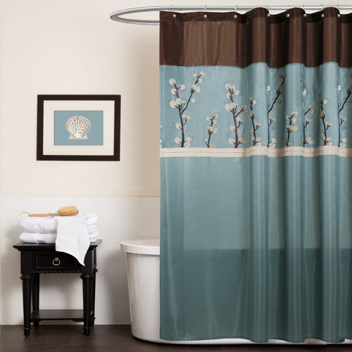 Cocoa Flower Shower Curtain