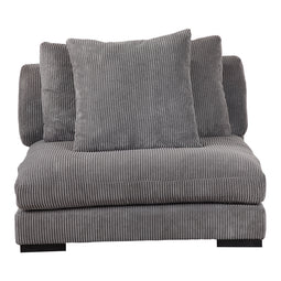 Transitional Tumble Slipper Armless Chair - Comfy Single Sofa Modern Slipper Chair