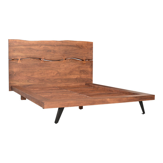 Madagascar Platform Bed King, Rustic, Brown
