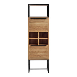 Contemporary Modern Nevada Tall Bar Buffet And Sideboard Cabinet - Accent Cabinet
