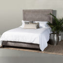 Load image into Gallery viewer, Brookside Upholstered Bed w/ Side Rails and Footboard in Premier Dove