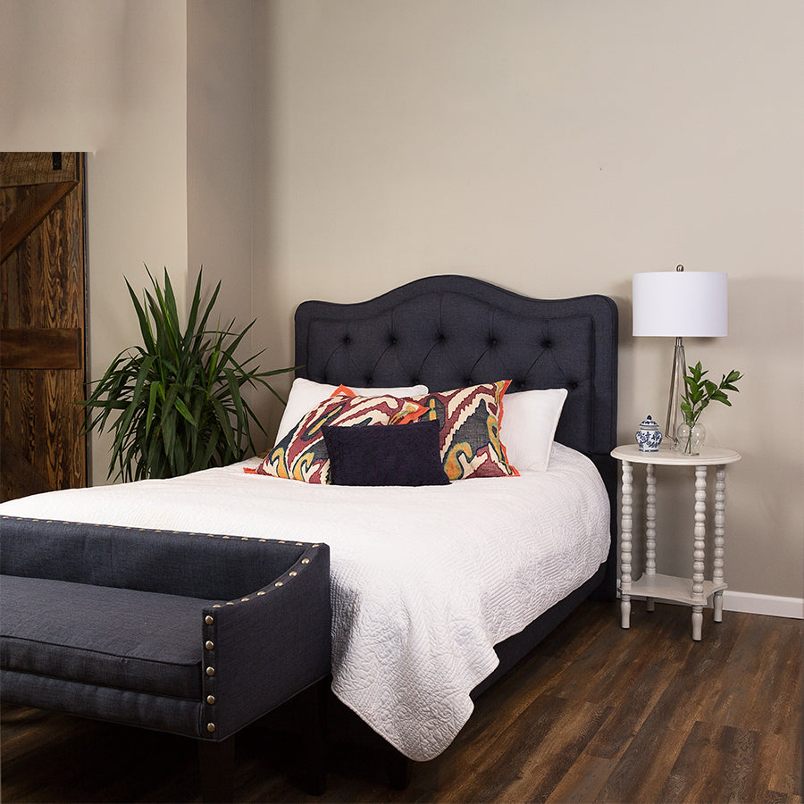 Leffler Home Allure Diamond Tufted King Bed in Urban Graphite