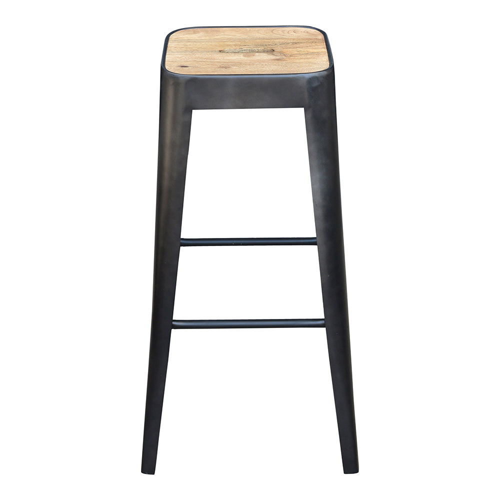 Bistro Counter Stool, Mid-Century Modern, Black | Bar Stools