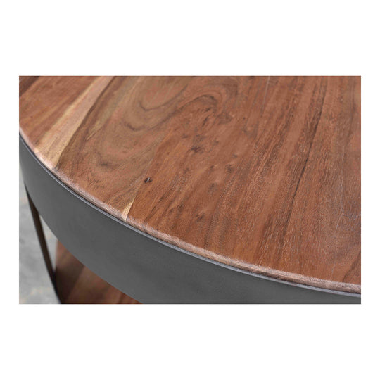 Contemporary Style April Coffee Table - Solid Wood Round Cocktail Table