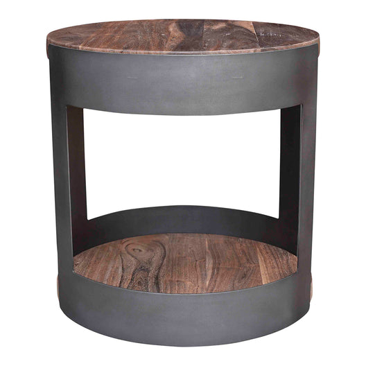 April Side Table, Brown, Contemporary Modern