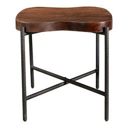 Adzuki Side Table, Brown, Contemporary Modern