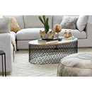 Load image into Gallery viewer, Contemporary Modern Celeste Coffee Table In Wooden Top - Round Coffee Table