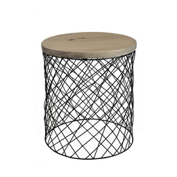 Celeste Side Table, Grey, Contemporary Modern