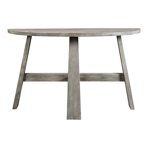 Jax Console Sofa Table In Solid Mango Wood - Grey - Contemporary Modern Farmhouse Console Table