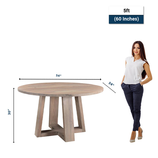Industrial Farmhouse X- Base Circular Dining Room Table - Multi - Function For Bar Table - Kitchen - Dining Room Table Set