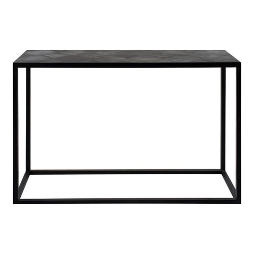 Modern Contemporary Tyle  Lavastone Top Console Table - Entryway Table In Black