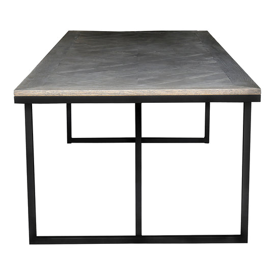 Corrigan Dining Table Black Base, Contemporary Modern, Black