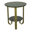 Load image into Gallery viewer, Cole Side Table, Brass, Contemporary Modern