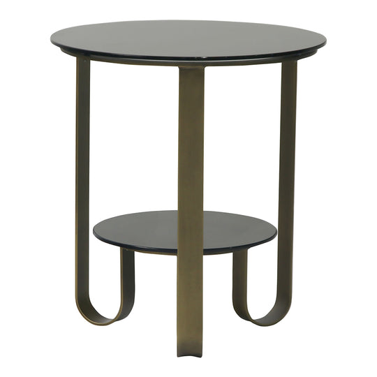 Cole Side Table, Brass, Contemporary Modern